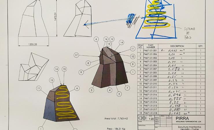 Miguel Palma. Ainda o Desconforto Moderno. Desenho técnico do Topo da Montanha.