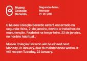 Museu encerrado dia 21 de janeiro 2019