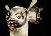 Máscara zoomorfa dos índios jurupixuna, Brasil.