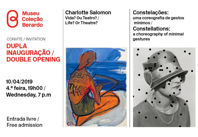 Convite/ Dupla inauguração: Charlotte Salomon & Constelações