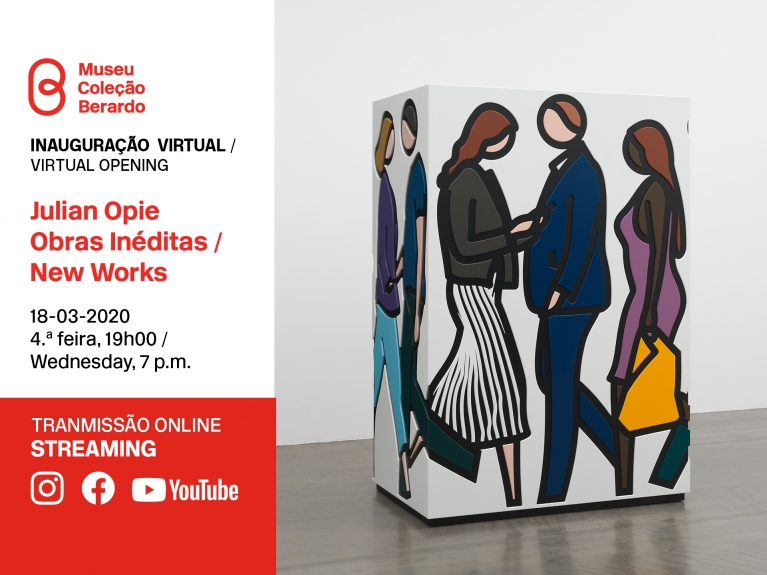Inauguração Virtual: Julian Opie, Obras Inéditas / New Works
